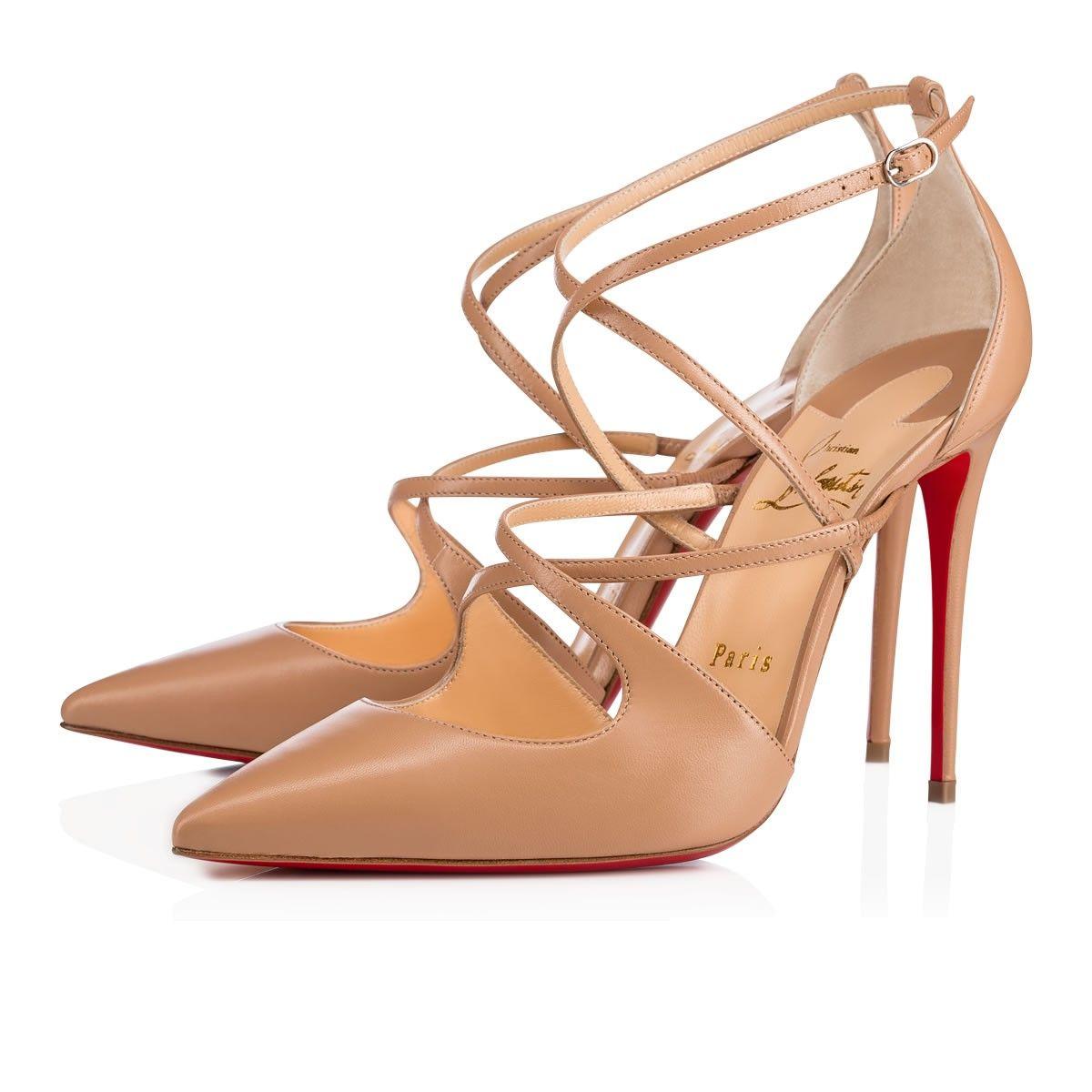 974ec8c9559e Crossfliketa 100 Nude Leather - Women Shoes - Christian Louboutin ...