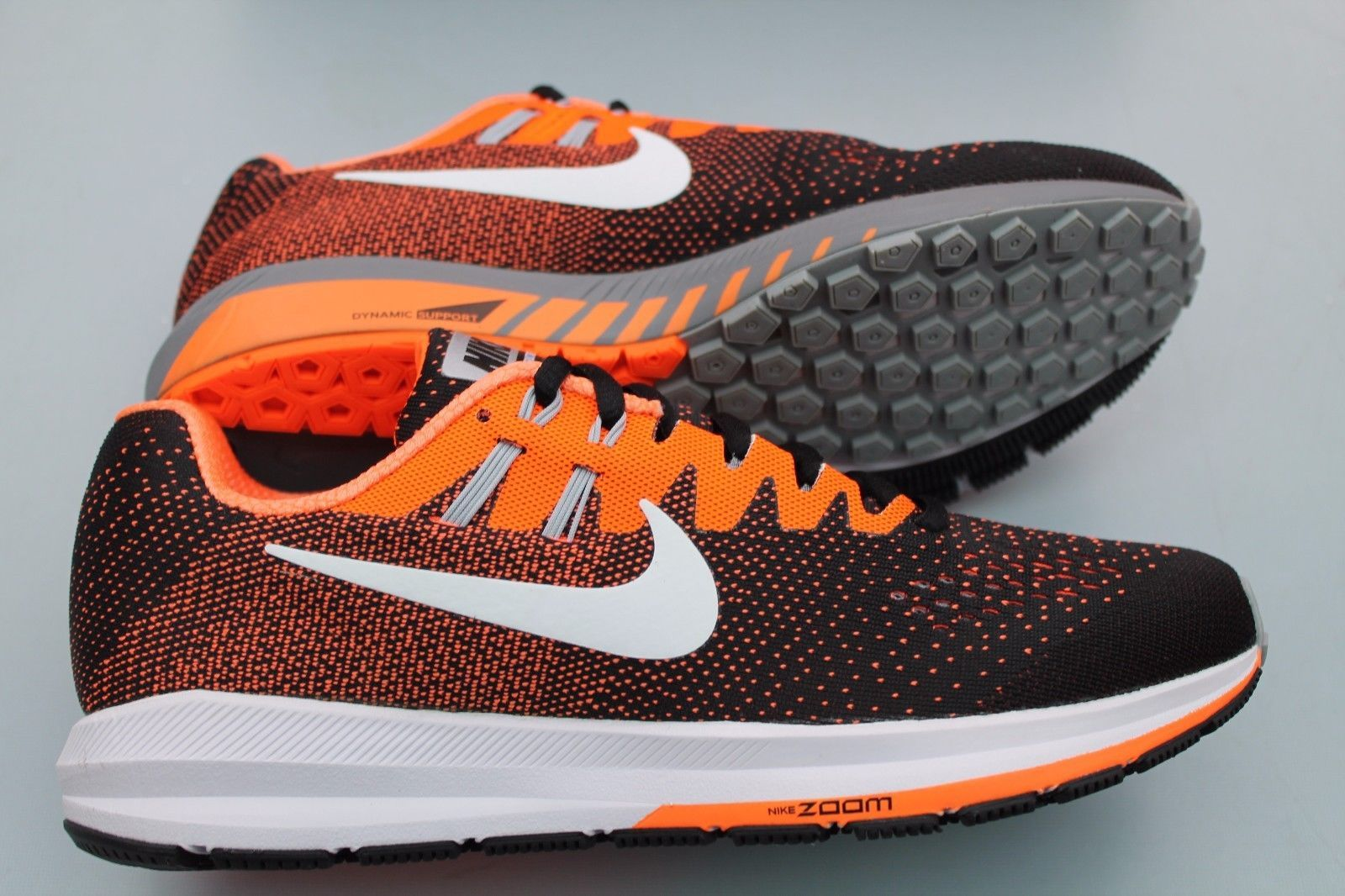 ... nike air zoom structure 20 running trainers black orange 849576 002  rare ...