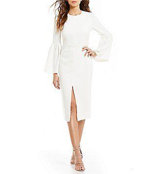 e1312cedc78 Jill Jill Stuart Bell-Sleeve Midi Dress