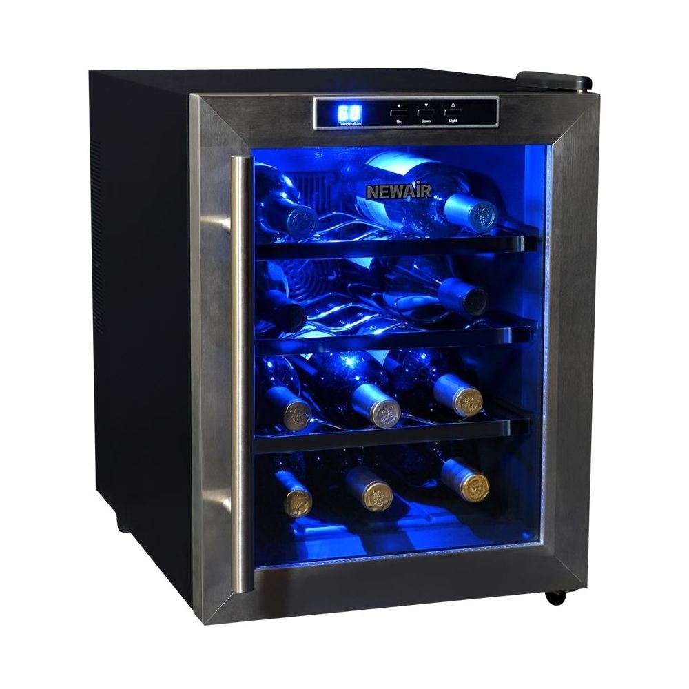 Newair 12 Bottle Wine Cooler Stainless Steel Thermoelectric Wine Cooler Wine Chiller Wine Refrigerator