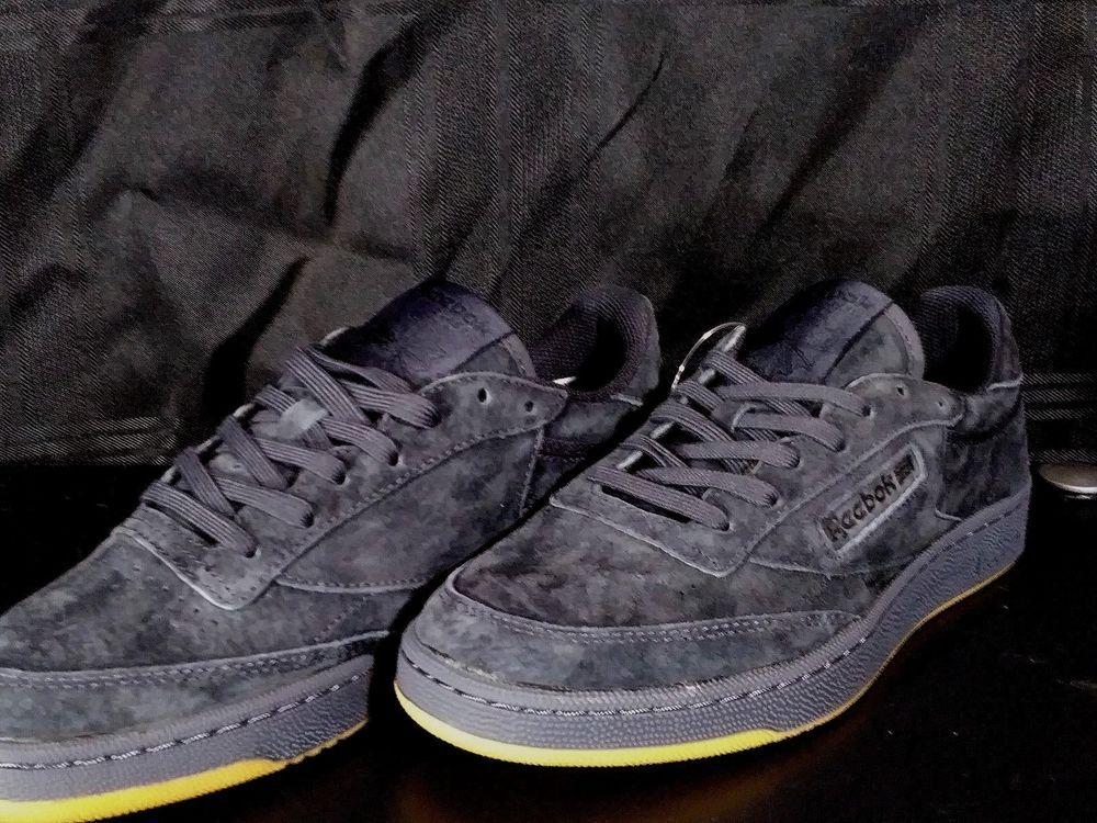 b6d7921dae7 Reebok Club C 85 TG Black Suede Shoes BD1885 SIZE 7.5  fashion  clothing   shoes  accessories  mensshoes  athleticshoes (ebay link)