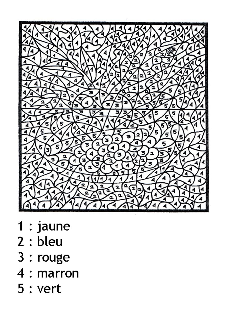 Coloriage magique a imprimer mystere chiffres kolorowanki antystresowe color by numbers - Coloriage magique a imprimer ...