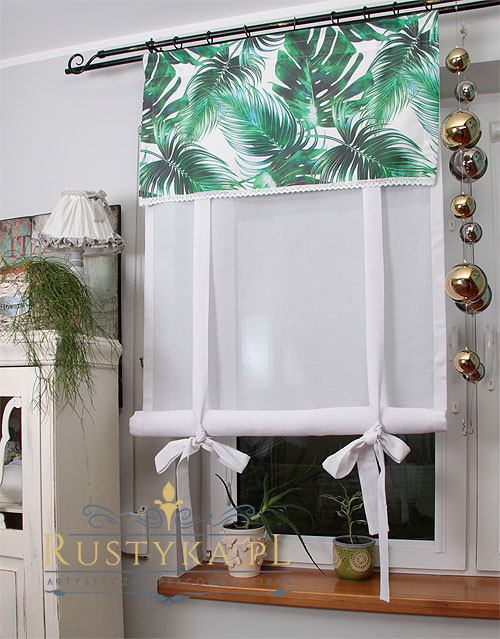 Roletka Tubka Monstera Rustyka Pl Home Decor Curtains With Blinds Decor
