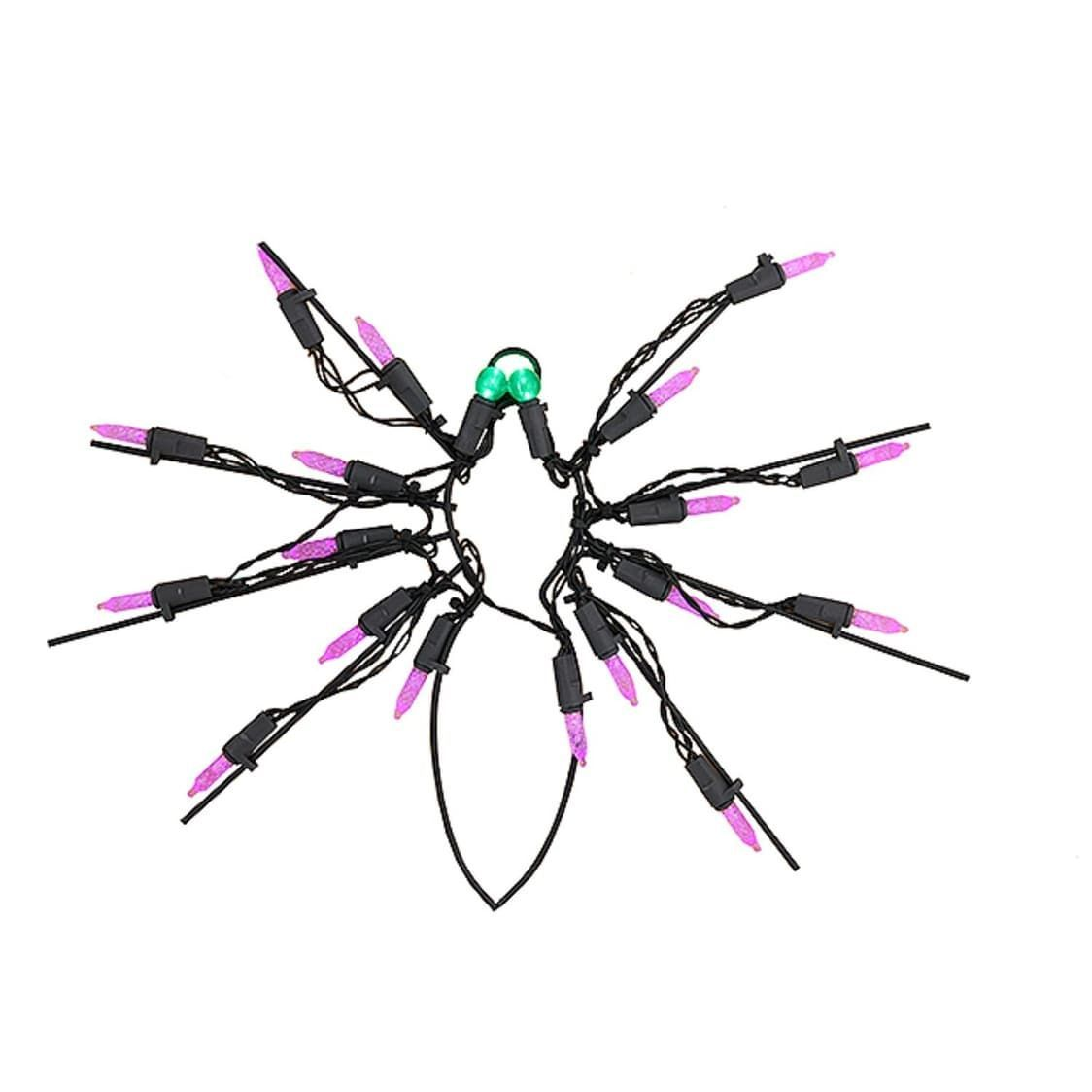 Sienna 12 Battery Operated LED Lighted Spider Halloween