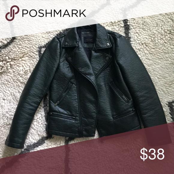 Faux leather moto jacket Faux leather moto jacket