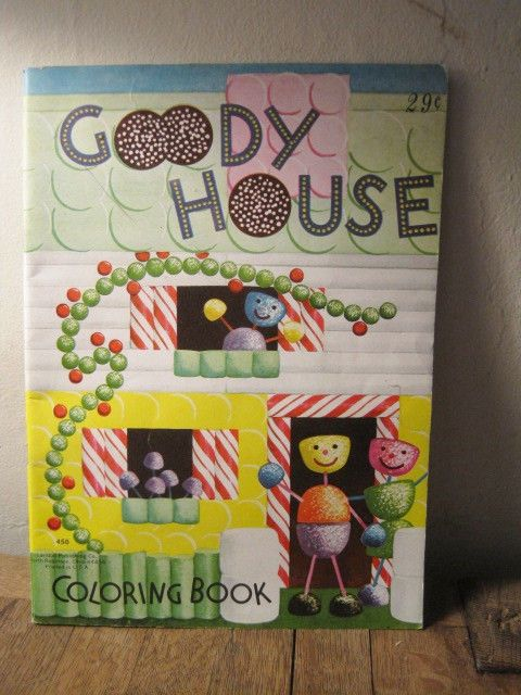 Vintage Goody House Coloring Book Landoll Publishing North Robinson Ohio Coloring Books Vintage Toys House Colors