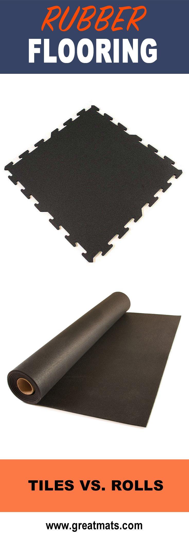 Interlocking Rubber Tile 2x2 Ft x 8 mm Black Rubber