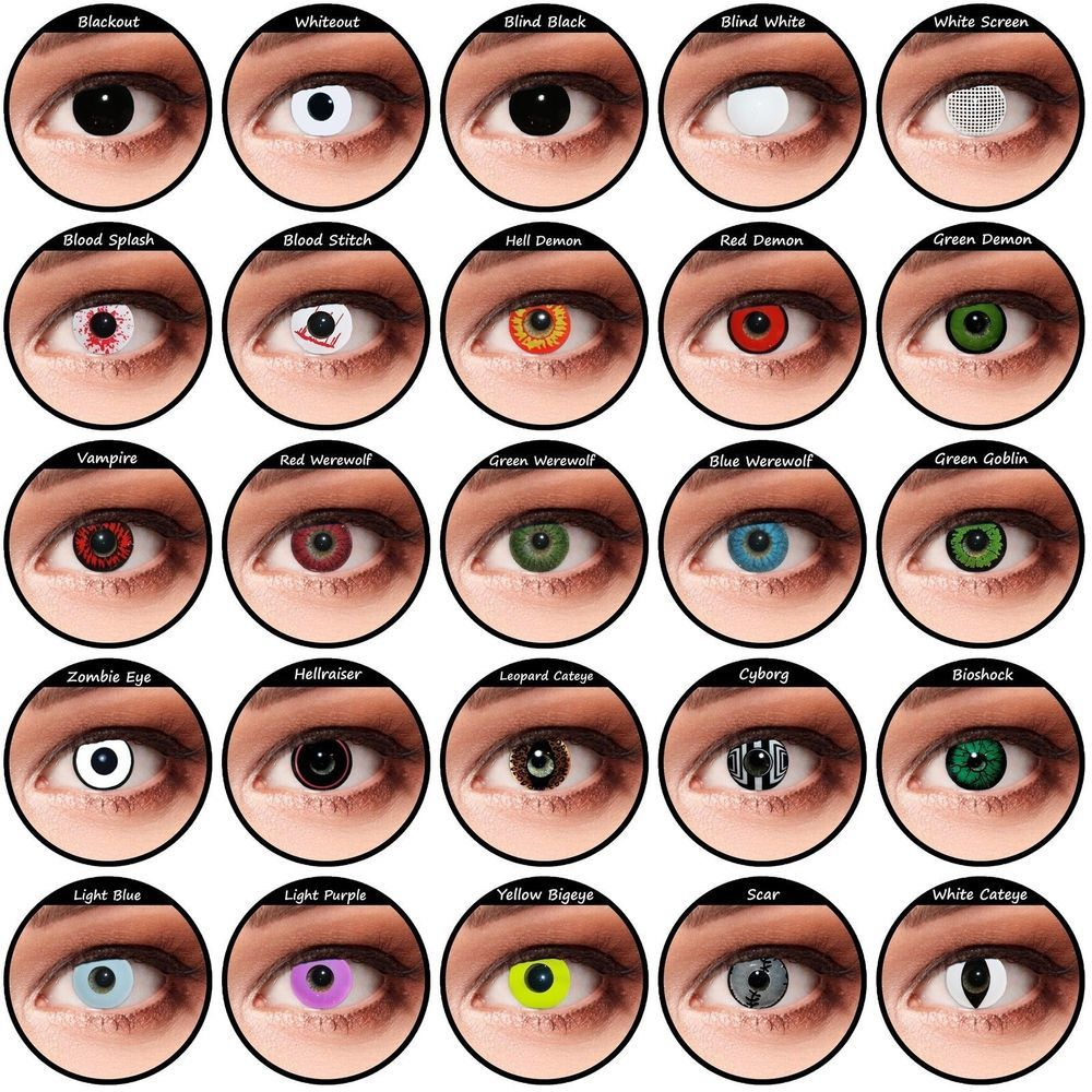 Coloured Contact Lenses Contacts Color Halloween Cospaly Crazy Lens Sales Coloured Contact Lenses Colored Contacts Halloween Contact Lenses