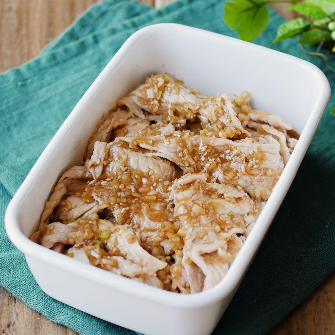 作り置き しっとり柔らか ねぎだく豚しゃぶ macaroni レシピ レシピ 食べ物のアイデア クッキング