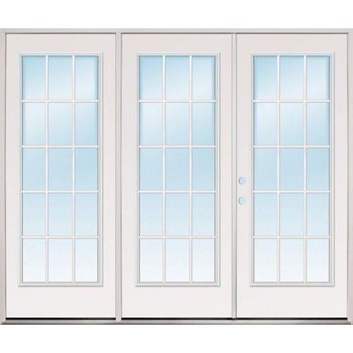 Discount 8 0 Wide 15 Lite Steel Patio Prehung Triple Door Unit French Doors Patio Cheap Interior Doors Fiberglass French Doors