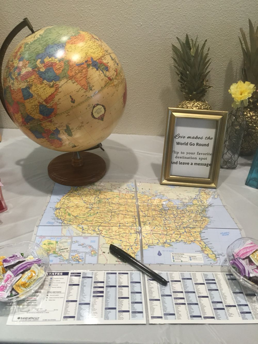 Traveling From Miss To Mrs Destination Wedding Bridal Shower Guest Sign In
