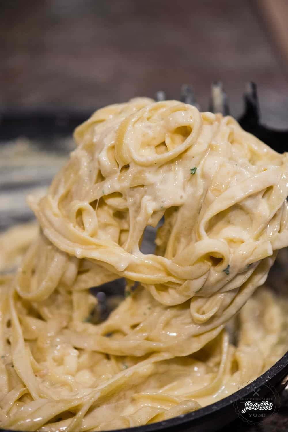 Alfredo sauce is a rich and creamy white sauce made with garlic, butter, heavy cream, and parmesan. This savory cheesy sauce infuses garlic into the butter and can be used with all kinds of pasta or even on top of vegetables. This recipe is different, I dare say better, than an alfredo sauce recipe with cream cheese.