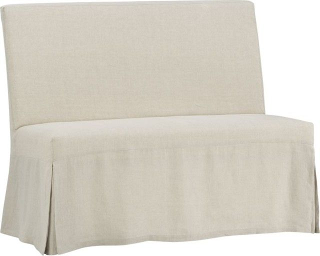 Slip Bench With Linen Slipcover In New Dining U0026 Entertaining | Crate And  Barrel | House Ideas/styling | Pinterest | Crates, Barrels And Linens