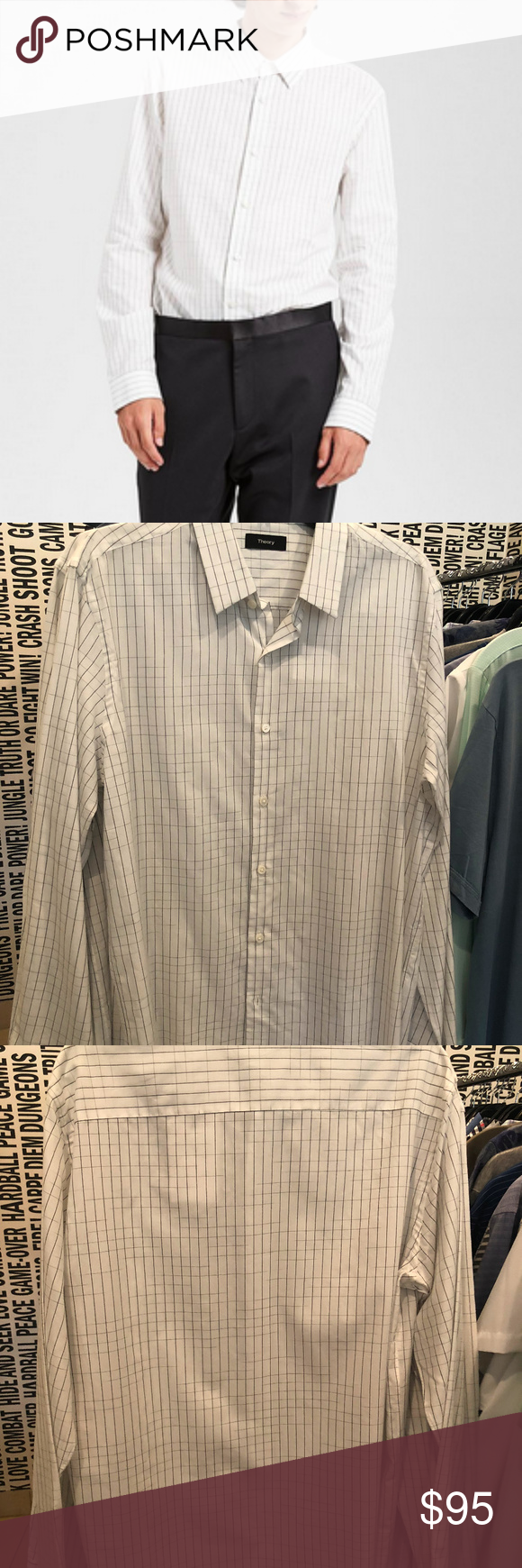 Theory Cotton Space Dyed Clean Shirt Boutique In 2018 My Posh