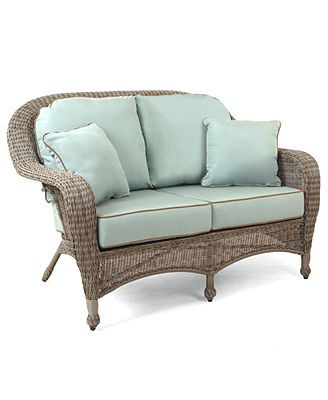 Sandy Cove Wicker Outdoor Loveseat Created For Macy S
