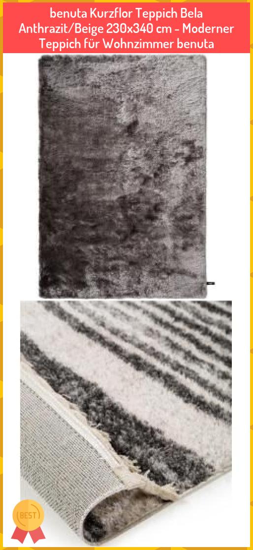 Benuta Kurzflor Teppich Bela Anthrazit Beige 230x340 Cm Moderner Teppich Fur Wohnzimmer Benuta Benuta Kurzflor Teppich Bela An In 2020 Shag Rug Decor Home Decor