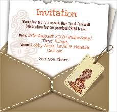 Send Off Lunch Invitation Farewell Invitation Template Free With