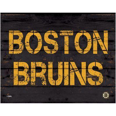 Boston Bruins 11 X 14 Rustic Option Wall Décor