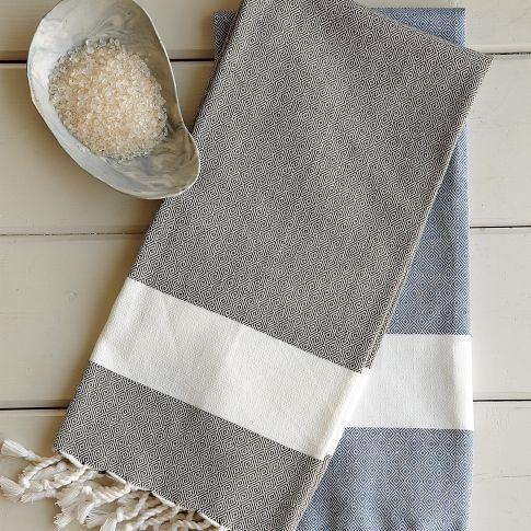 Honeycomb Tassel Hammam Hand Towel