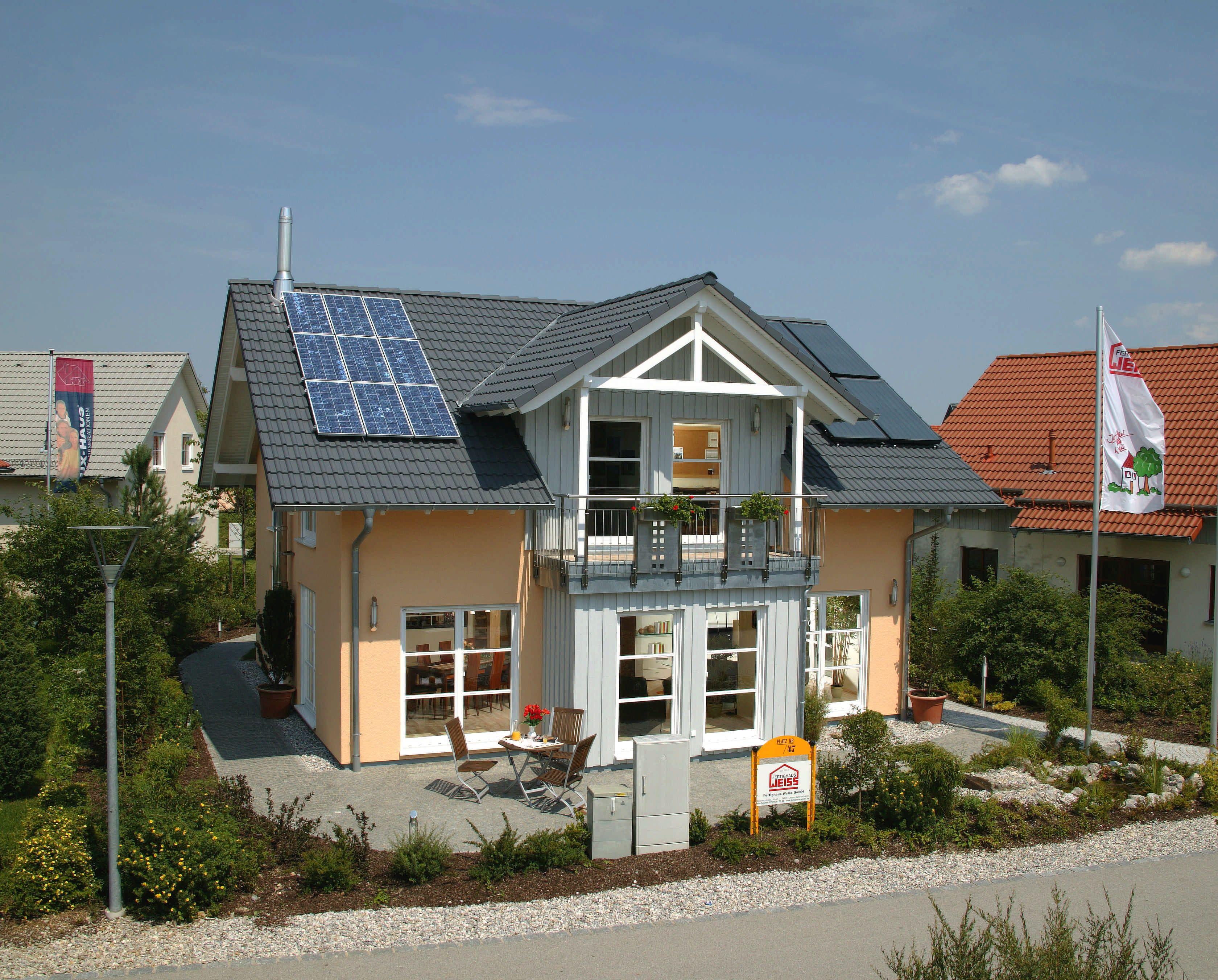 Musterhaus Poing außenansicht haus poing fertighaus weiss bavaria musterhaus