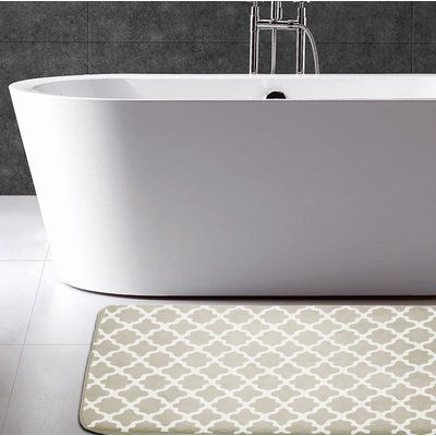Andover Mills Osmond Flannel Memory Foam Bath Rug Products
