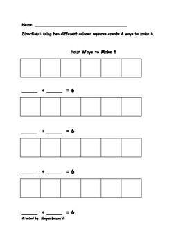 Ways To Make 6 Kindergarten Worksheets