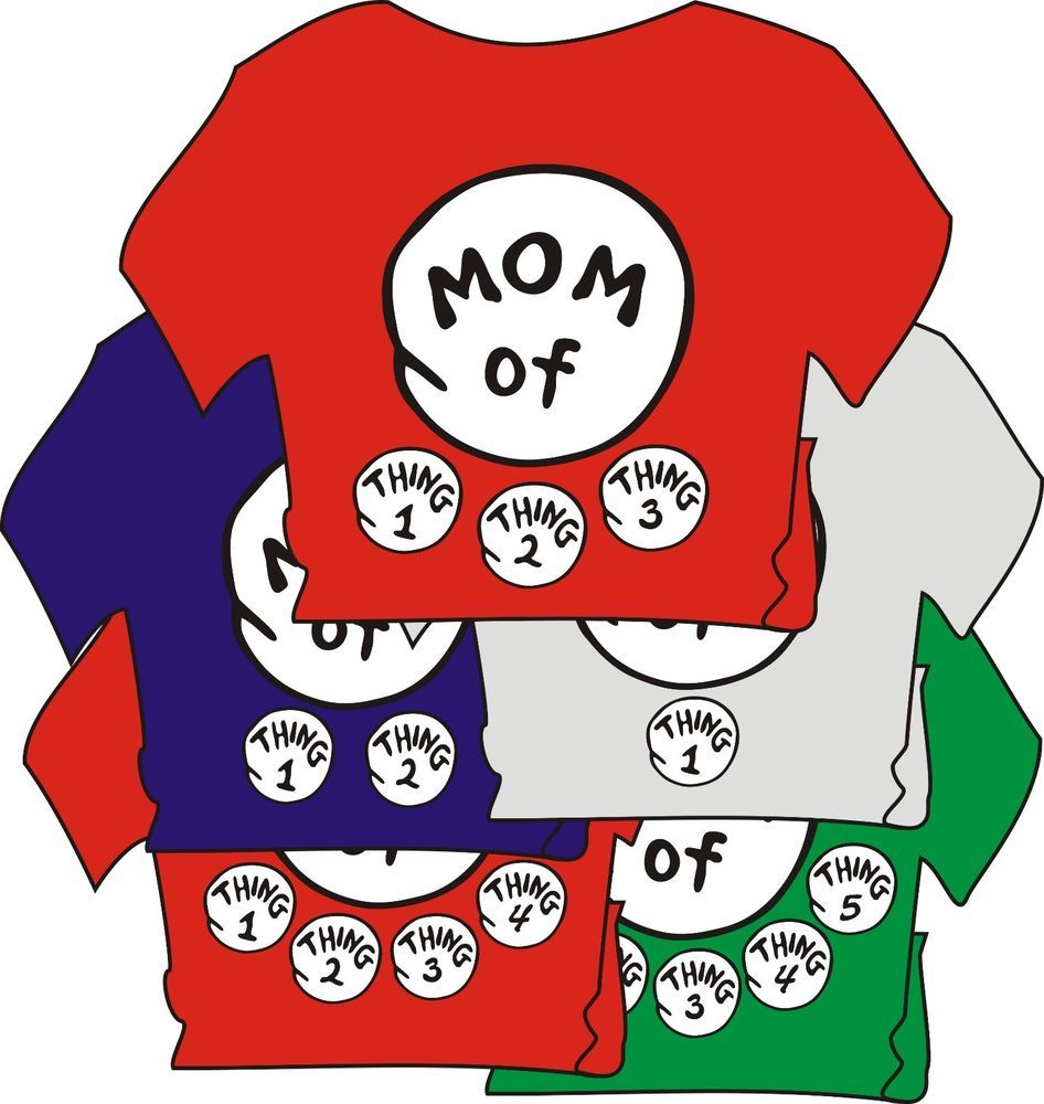 c4658ce2 DR SEUSS MOM of thing 1 2 3 4 ETC DAD GRANDPA GRANDMA of T SHIRT ALL SIZES  #GILDANHANES #BasicTee