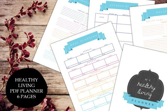 Fitness journal planner printable pdf healthy living exercise diet fitness journal planner printable pdf healthy living exercise diet log calories exercises grocery list stopboris Choice Image