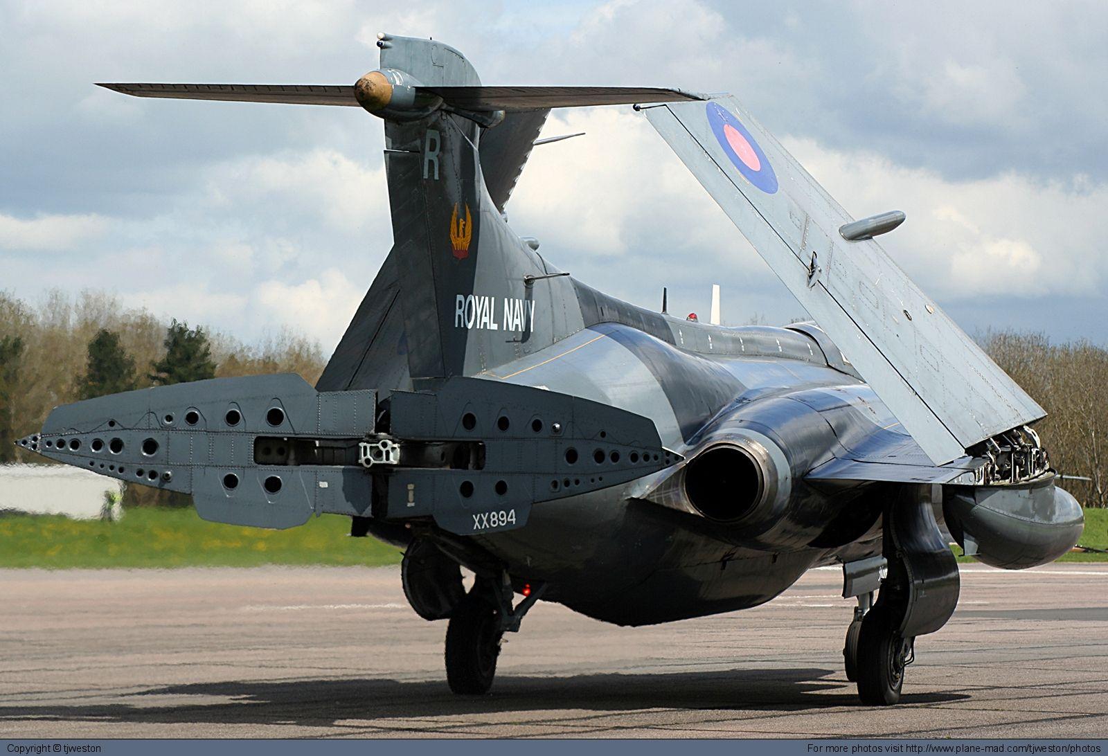 Blackburn Buccaneer with air brake open Blackburn