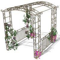 Arche Evolutive Transformable En Pergola Avec Portillon Balustrade Garden Arch Outdoor Structures Outdoor