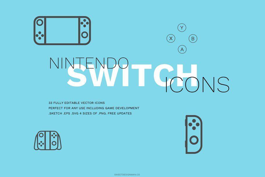 Nintendo Switch Icon Set Icon Set Icon Nintendo Switch