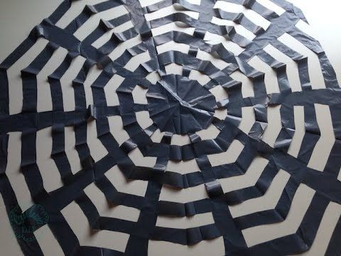 Kirigami de telara a de papel para decorar en halloween - Como hacer tela de arana ...