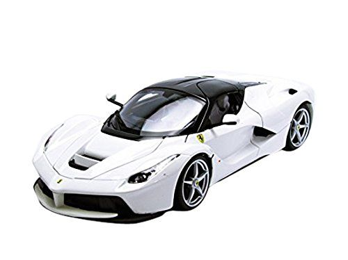 Bburago Ferrari LaFerrari F70 1/18 Scale Diecast Model Car, White   Diecast  Model