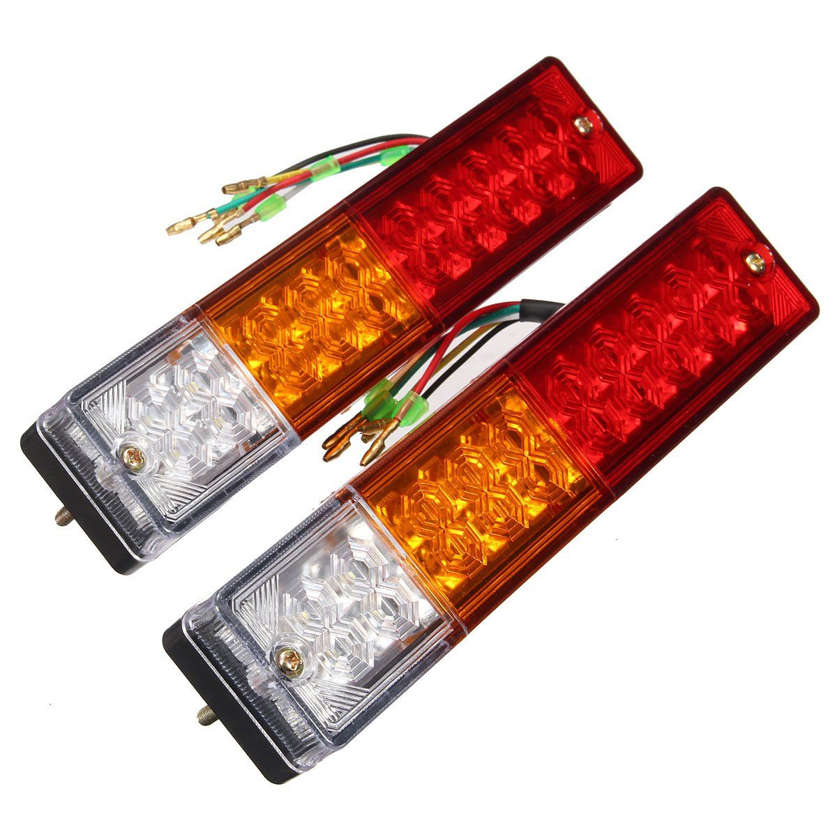 Led Verlichting Camper 12v Pair 12v Truck Trailer Caravan Led Brake Rear Tail Reverse Light