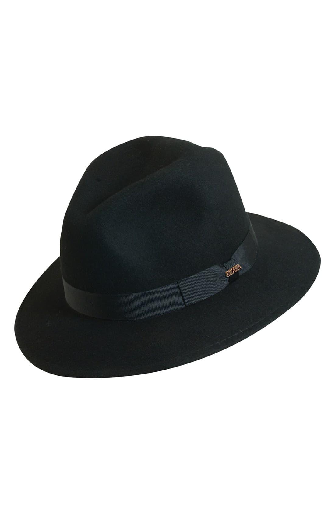 59afa8b55a5fe7 Men's Scala 'Classico' Crushable Felt Safari Hat - Black in 2019 ...