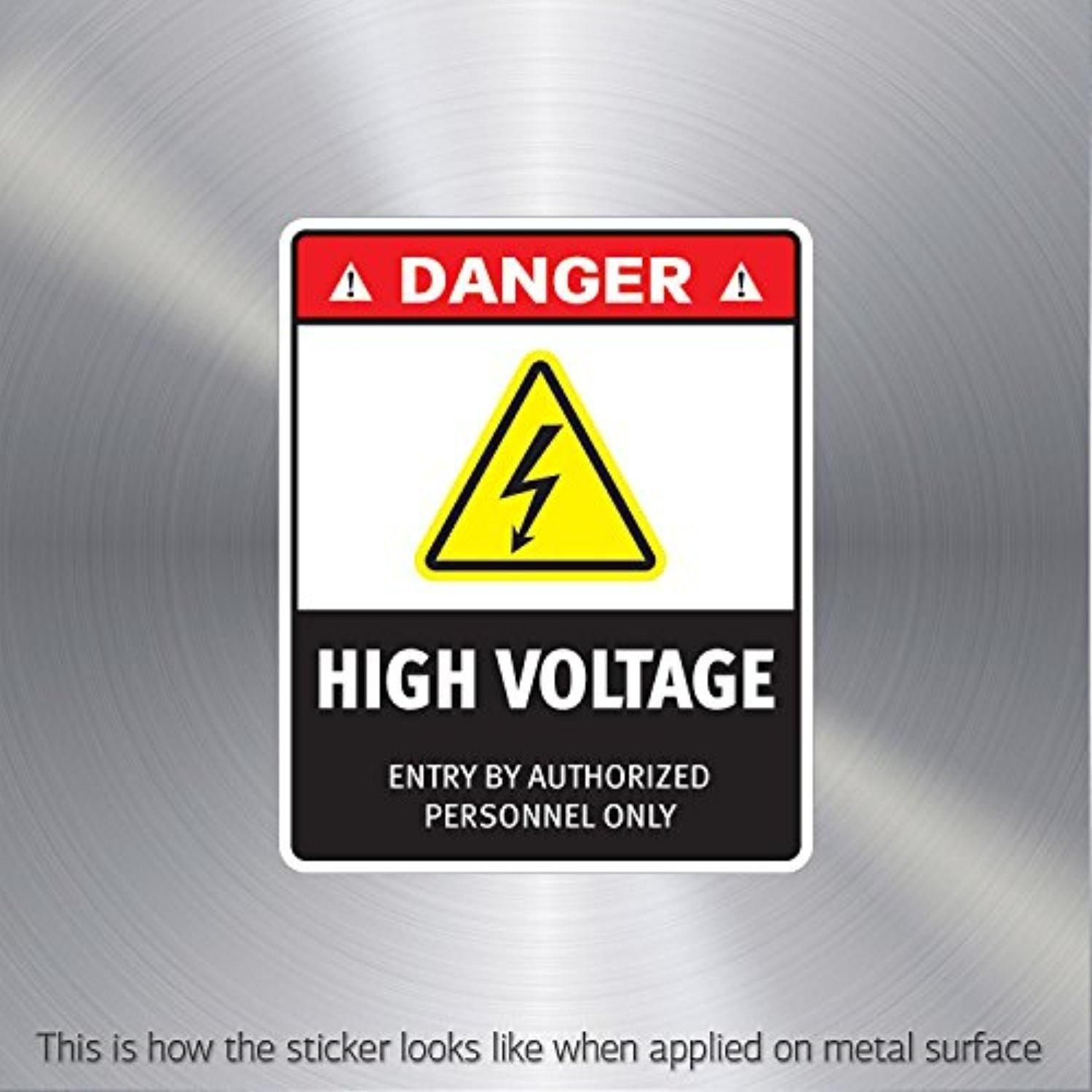 Hobby Stickers Danger High Voltage. Entry By Authorized Personnel ...
