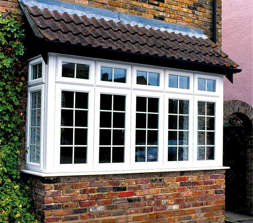 Upvc bow windows bay windows upvc double glazing for Square window design