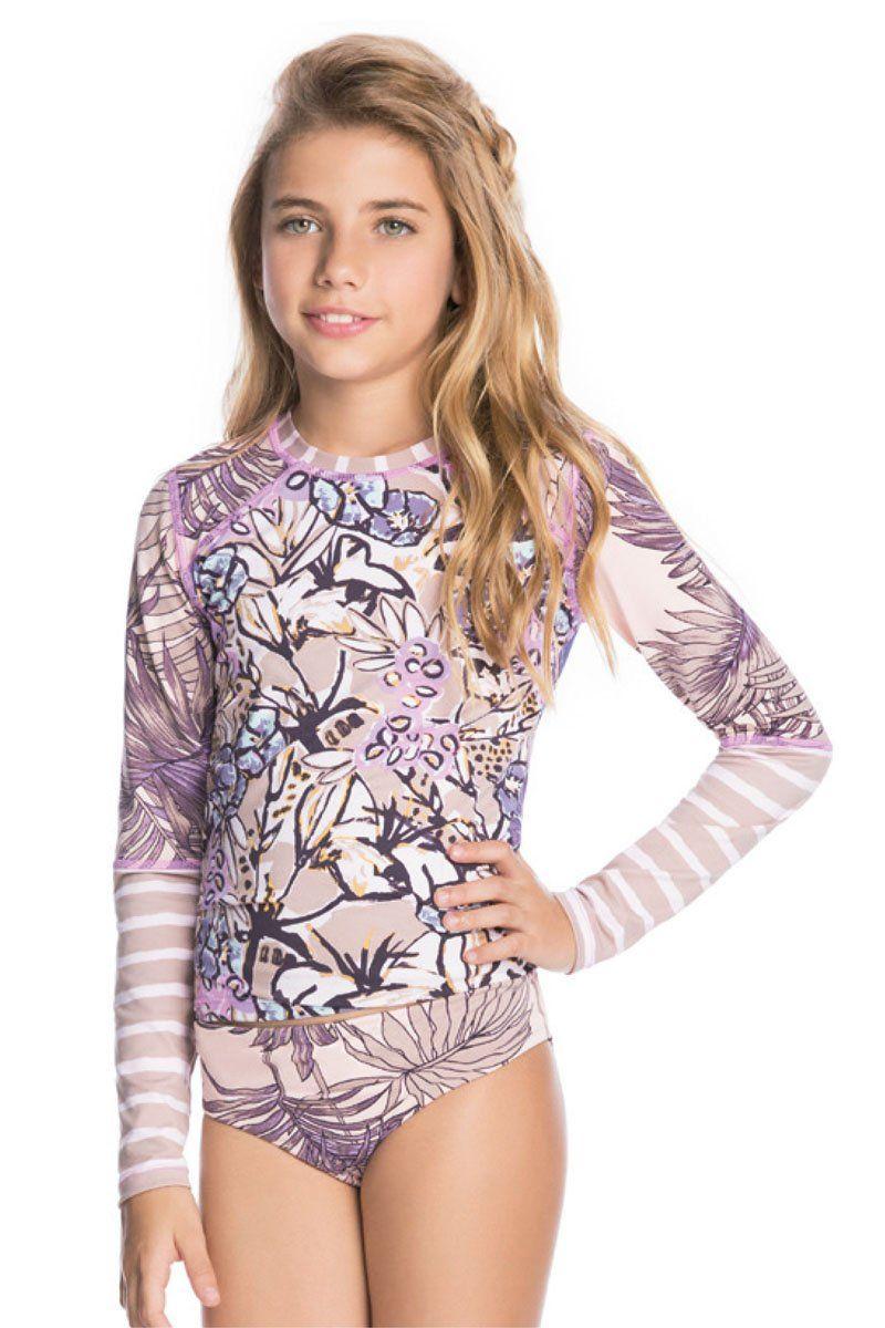 196daef666656 Maaji Girls Acai and Violets Rash Guard Set | Maaji Girls Swimwear ...