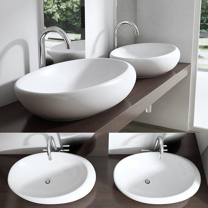 39 5 Cm Aufsatz Waschbecken Br 252 Ssel Aufsatzwaschbecken