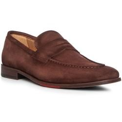 Photo of red and black Loafer Herren, Velours, braun red and black