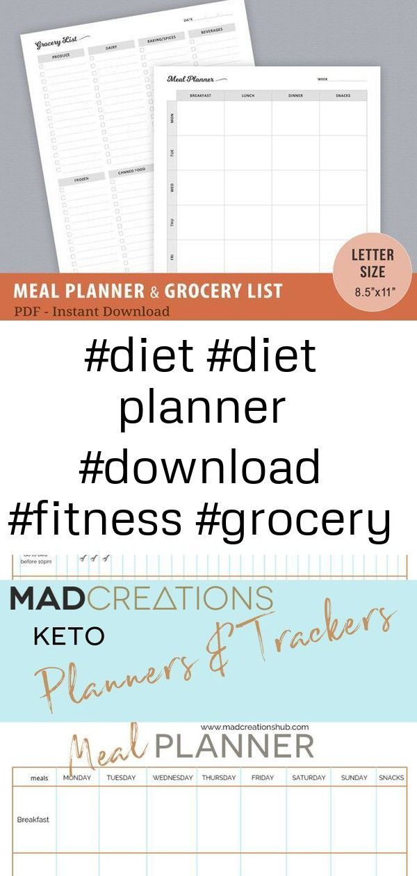 #Diet #DOWNLOAD #fitness #Grocery #health #Instant #letter #List #meal #PDF #Planner #Diet #diet pla...
