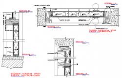 Wooden Vertical Door Section Detail Dwg File