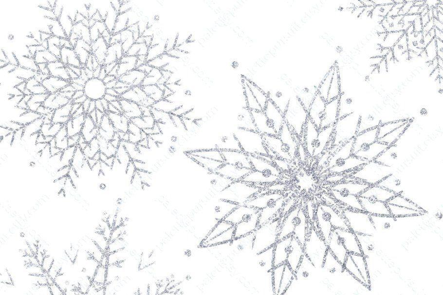 Silver Glitter Snowflakes Clip Art Clip Art Silver Glitter Snowflake Clipart