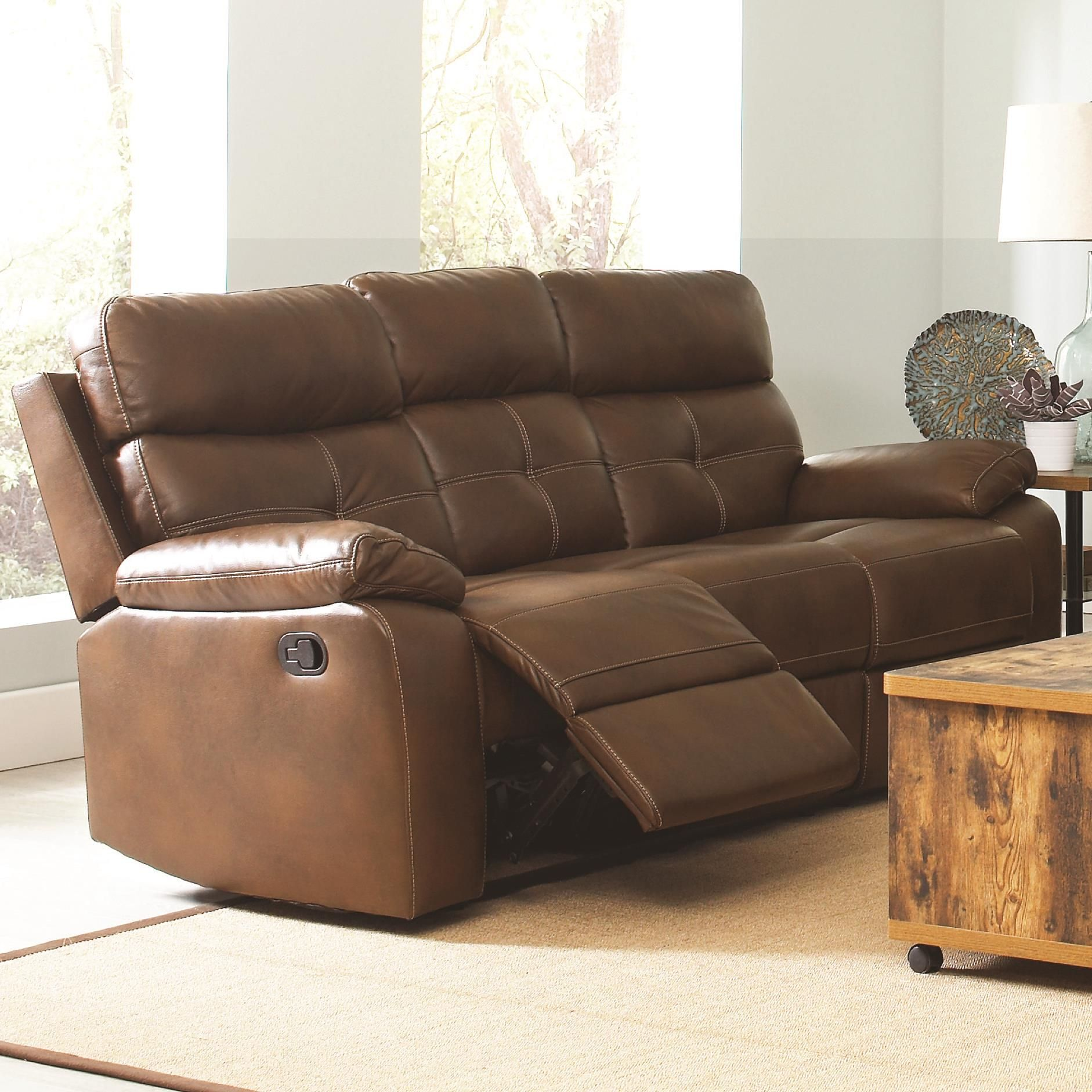 Awe Inspiring Damiano Casual Faux Leather Reclining Sofa With Button Tuft Pdpeps Interior Chair Design Pdpepsorg