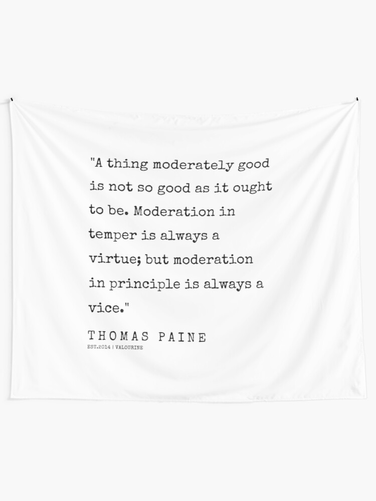 34   | 200321 | Thomas Paine Quotes Tapestry by valourine