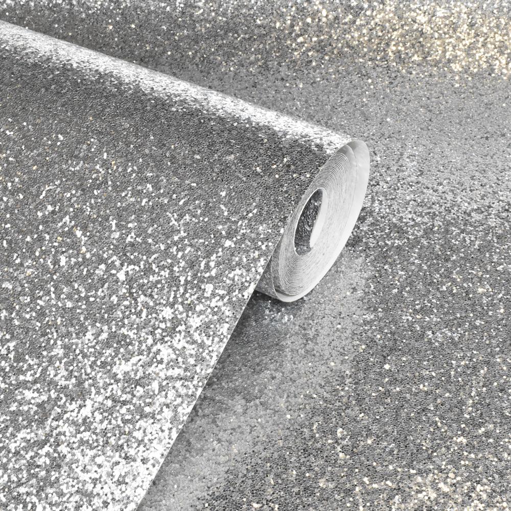 Arthouse Sequin Sparkle Silver Wallpaper 900900