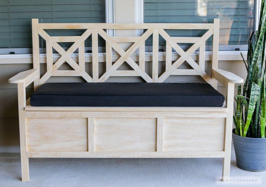 How To Build A Diy Outdoor Storage Bench Woodworking Diy Storage