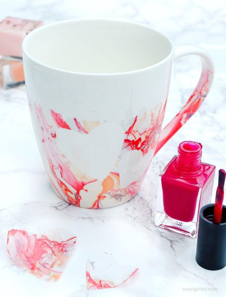 diy idee kaffeetassen mit nagellack marmorieren was eigenes blog pinterest tassen. Black Bedroom Furniture Sets. Home Design Ideas