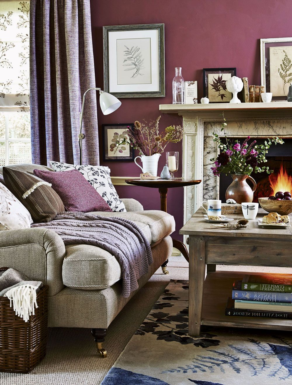Color palette for home interiors  An autumn colour palette helps create a cosy look at home  Snug