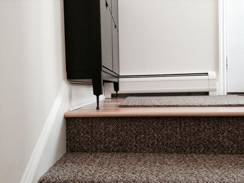 Stall Shoe Cabinet Hack For Tall Baseboards Diy